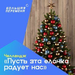 Новогодний челлендж «Пусть эта ёлочка радует нас»!